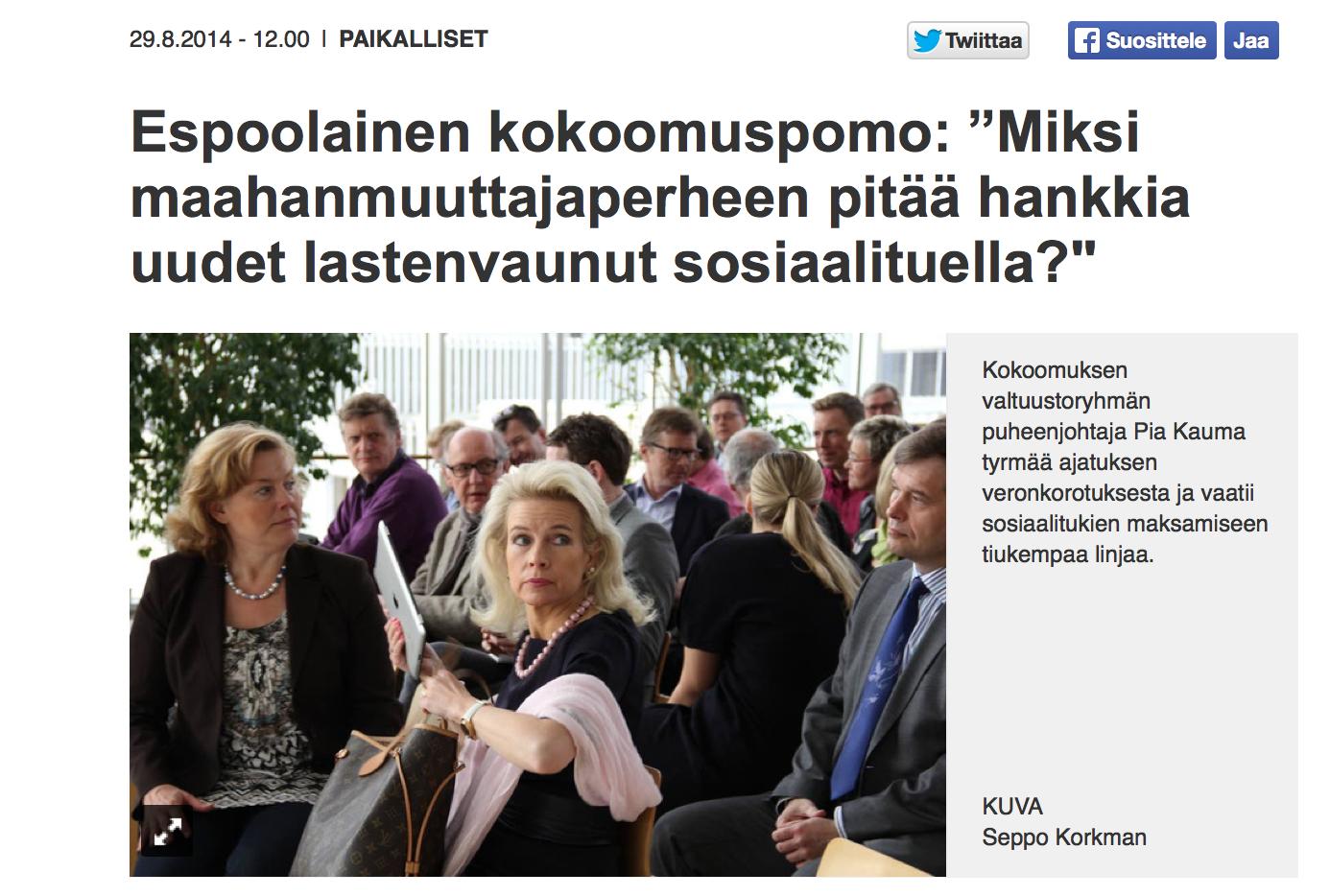 Väite: Maahanmuuttajaperheet saavat hankkia uudet lastenvaunut sosiaalituella, kun suomalaisperheet kierrättävät vanhoja vaunuja