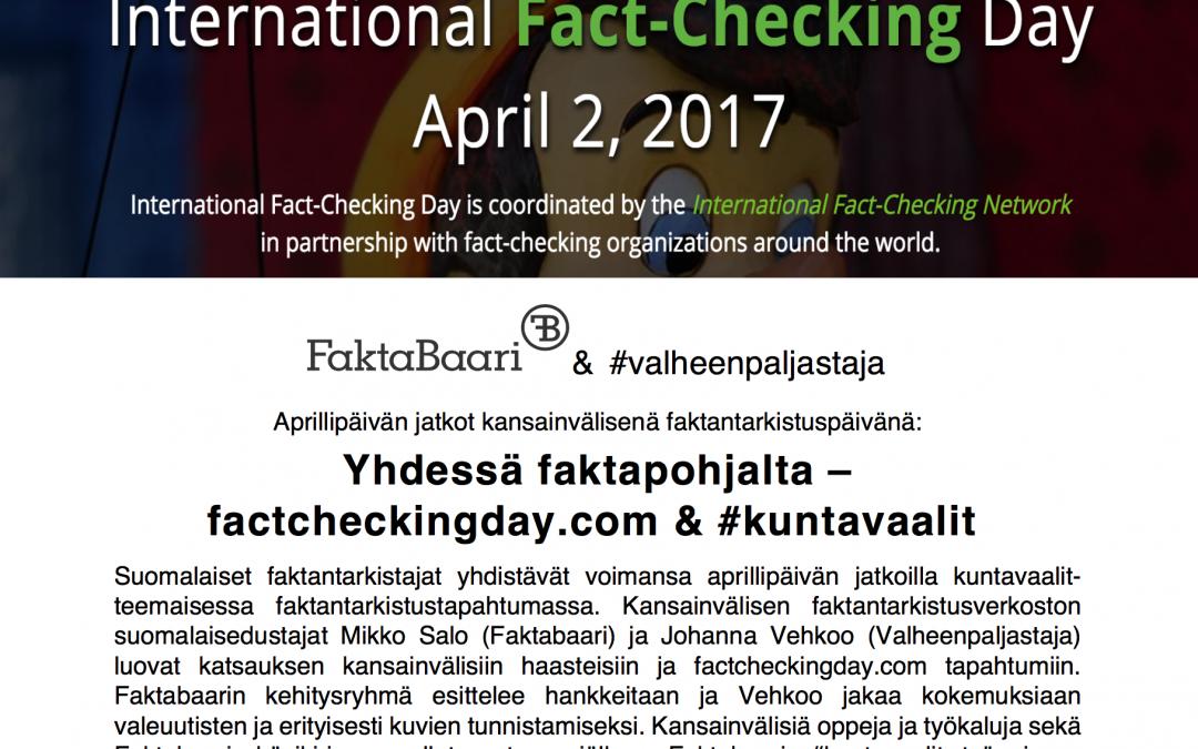OSALLISTU: Su 2.4. yhdessä faktapohjalta – factcheckingday.com ja kuntavaalit
