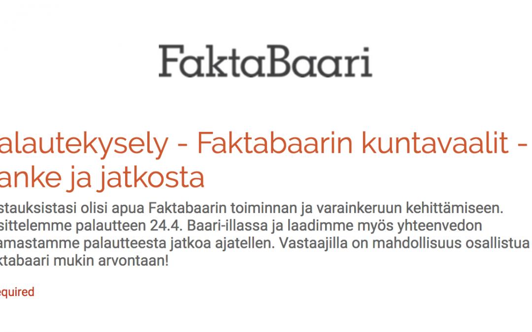 Faktabaari tarkisti tuellanne useita väitteitä kuntavaalien viimeisellä viikolla